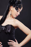 Fantasy style. Portrait of stylish woman with fantasy hairstyle and make-up Royalty Free Stock Photos