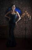Demonic woman. Fantasy style indoors portrait of demonic woman Stock Photography