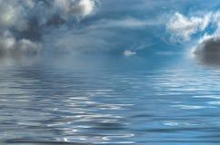 Fantasy Style Seascape with Threatening Sky Royalty Free Stock Photo
