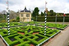 Fantasy-styled Tudor Garden in Hamilton Gardens Royalty Free Stock Photo