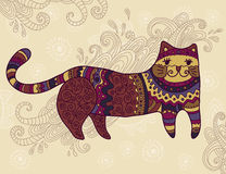 Fantasy stylized cat Royalty Free Stock Image