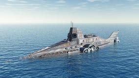 Fantasy submarine Stock Images