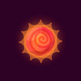 Fantasy sun logo Stock Image