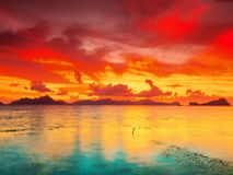 Fantasy sunset Stock Images