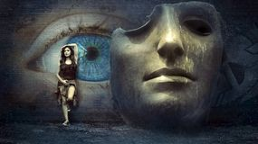Fantasy, Surreal, Mask, Wall, Eye