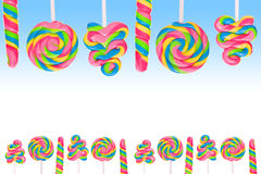 Fantasy sweet candy land with lollies Stock Photography