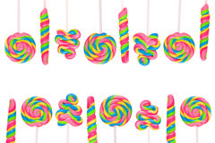 Fantasy sweet candy land with lollies Royalty Free Stock Photography