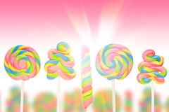 Fantasy sweet candy land with lollies Royalty Free Stock Image