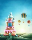 Fantasy sweet land. Illustration of fantasy sweet land Royalty Free Illustration