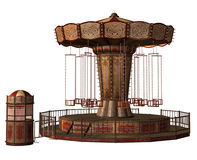 Fantasy swing carousel. 3D render of a fantasy swing carousel Royalty Free Stock Images