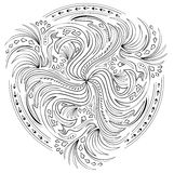 Fantasy with swirl based on Celtic ornaments. Royalty Free Stock Image