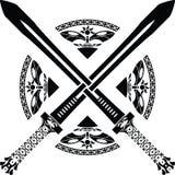 Fantasy swords. Third variant. illustration vector illustration