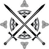 Fantasy swords. Fifth variant. illustration stock illustration