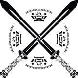 Fantasy swords. first variant. Illustration vector illustration