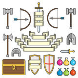 Fantasy Symbols and Scrolls Stock Images