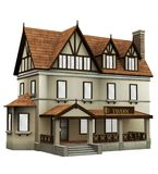 Fantasy tavern. 3D render of a fantasy tavern Stock Photography