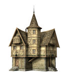 Fantasy Tavern. 3D illustration of a fantasy tavern isolated on white Royalty Free Stock Photo