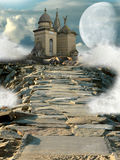 Fantasy temple Stock Image