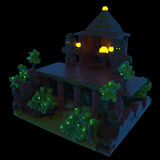 Fantasy temple - 3d night scene Royalty Free Stock Photos