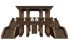 Fantasy temple. 3D rendered fantasy temple on white background isolated Royalty Free Stock Images