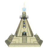 Fantasy temple. 3D rendered fantasy temple on white background isolated Stock Images