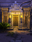 Fantasy temple gate. 3D rendered fantasy temple gate in the night Royalty Free Stock Images