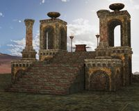 Fantasy Temple scenery Royalty Free Stock Image