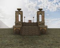 Fantasy Temple scenery Stock Images