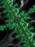 Dreaming Emerald. Fantasy themed fractals background illustration Royalty Free Stock Photos