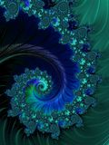 Wave On. Fantasy themed fractals background illustration Royalty Free Stock Photo