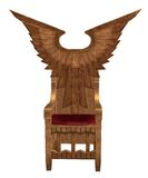Fantasy throne 1. 3D render of a winged fantasy throne Royalty Free Stock Photography