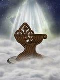 Fantasy throne. In the sky stock illustration