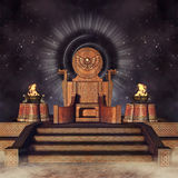 Fantasy throne and burners Royalty Free Stock Images