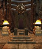 Fantasy throne room 1 Stock Photography