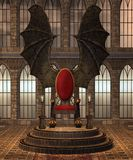 Fantasy throne room 3 royalty free illustration