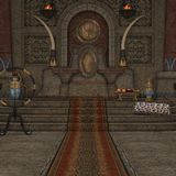 Fantasy Throne Room Royalty Free Stock Images