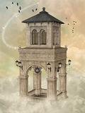 Fantasy tower 3D rendering Stock Photos