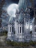 Fantasy tower at night Stock Photography