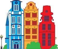 Fantasy town illustration Royalty Free Stock Photo