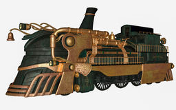 Fantasy train. 3D rendered fantasy steam train on white background isolated Stock Images