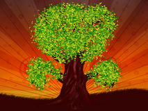 Fantasy tree of green color Royalty Free Stock Image