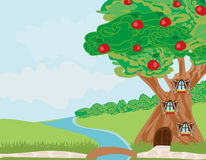 Fantasy tree house. Vector Illustration vector illustration