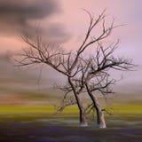 Fantasy trees - 3D render Royalty Free Stock Photos