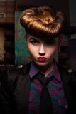 Fantasy. Trendy and Classy Girl Portrait. Glamour stock photography