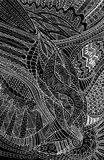 Fantasy tribal ethnic abstract black and white background. Royalty Free Stock Images