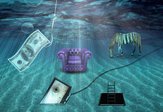 Fantasy Underwater scene Royalty Free Stock Images