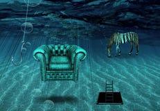Fantasy Underwater scene Stock Photos