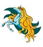 Fantasy unicorn. In cartoon style for mascot or emblem Stock Image