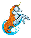 Fantasy unicorn horse. In cartoon style for tattoo design Stock Photo