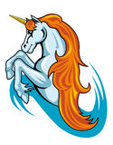 Fantasy unicorn horse. In cartoon style for tattoo design Royalty Free Stock Photos